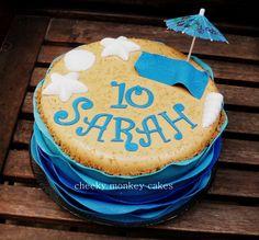 beach & ocean birthday cake