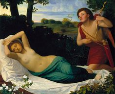 Cupid and Psyche by William-Adolphe Bouguereau