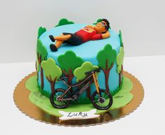 Cake Ideas For Men Sports Galleries Ideas Bicycle Party, Bicycle Cake, Bike Cakes, Mountain Bike Cake, Mountain Biking, Sport Cakes, Cake Cookies, Cupcakes, 40th Birthday Cakes