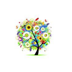 Colorful Tree HD iPad Wallpaper