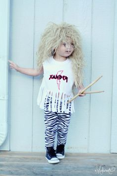 Throw Back Thursday: 80's Hair Band Boy's Halloween Costume