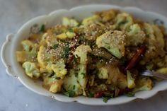 spicy cauliflower with sesame