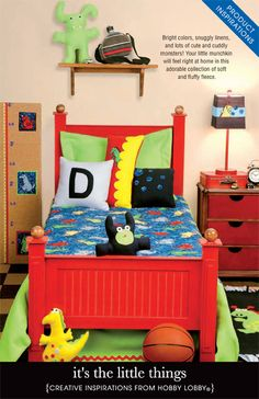 Bright colors, snuggly linens, and lots of cute cuddly monsters! Your little munchkin will feel right at home in this adorable collection of soft and fluffy fleece.