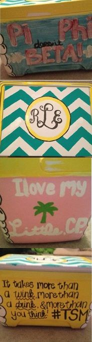 How did my cooler end up on some randos pinterest! This is the cooler I painted my big on big little reveal!! <3