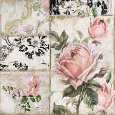 Shabby Pink Tea Roses Art Print by Mindy Sommers. All prints are professionally printed, packaged, and shipped within 3 - 4 business days. Choose from multiple sizes and hundreds of frame and mat options. Vintage Labels, Vintage Cards, Vintage Paper, Vintage Rosen, Rose Art, Decoupage Paper, Tea Roses, Grafik Design, Art Pages