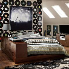 I love the Records on the wall