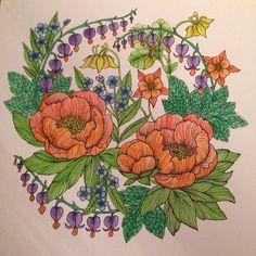 Feeling calm #mindfulness #blomstermandala #mariatrolle #colour