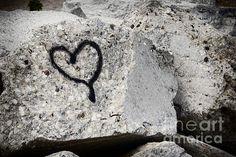 Title  Love On The Rocks   Artist  Joan Carroll   Medium  Photograph - Digital Photograph