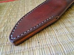 Andrzej Woronowski Custom Knives: [TUTORIAL] How to make a simple leather sheath?:
