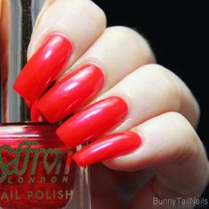 Saffron 52: BunnyTailNails: Sanna Tara Nail Art - Saffron 20 + 51 + 52 - Are You Red-y?