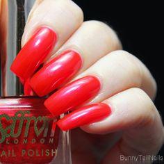 Saffron 52: BunnyTailNails: Sanna Tara Nail Art - Saffron 20 + 51 + 52 - Are You Red-y?
