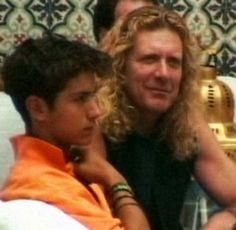 Robert Plant and his son Logan Romero