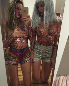 Repost from @pet_snake glitter twin @gypspallister and me by suga_possum