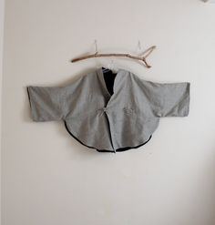custom oversized reversible linen cape by annyschooecoclothing