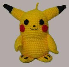 Pikachu (Pokemon) Amigurumi - Patrón Gratis en Español aquí: http://www.loraineamigurumis.com.ar/pikachu.php