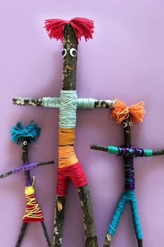 Make your own stick family.  For lots of fun kids craft activity ideas visit the MINI MAD THINGS craft blog.