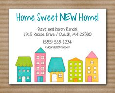 New Address Card Change Of Address Card By Paperhousedesigns 10 00