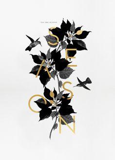 Creative Graphic, Design, Tis, Season, and Jolly image ideas & inspiration on Designspiration Graphic Design Typography, Graphic Art, Branding Design, Logo Design, Luxury Graphic Design, Flower Graphic Design, Japanese Typography, Lettering, Typography Poster