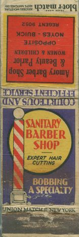 1920′s Blot-r Match Matchbook Cover – Armory Barber Shop – Boston, MA    Be sure to check out all of our Vintage Old Manumark Matchbook Covers at http://matchcoverguy.com/category/old-manumarks-2/