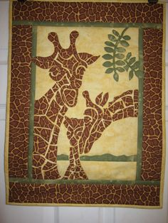 """Giraffe Applique Quilt by """"northern lass"""" from the quiltingboard.com"""