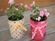 Cute recycling and planting ideas for kids