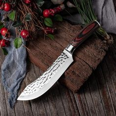 7.6inch Handmade Forged Kitchen Knife Butcher Meat Chopping Cleaver Chinese Chef Knife 5CR15 Stainless Steel Forging Knives, Forged Knife, Best Kitchen Knives, Metzger, Butcher Knife, Wood Source, Handmade Knives, Chef Knife, Knife Sets
