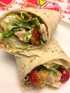 Easy Healthy Chicken Ceasar Salad Wraps Recipe Melanie Cooks – Home Design Chicken Ceasar Salad, Chicken Caesar Wrap, Caesar Salad, Chicken Wraps, Asian Chicken, The Menu, Dim Sum, Healthy Recipe Videos, Healthy Recipes
