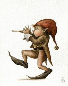 Marc Potts: Trolls, Goblins, Gnomes and a Pixy. for sale on Etsy! Magical Creatures, Fantasy Creatures, Duende Real, Pixie, Design Steampunk, Male Fairy, Fairy Drawings, Elves And Fairies, Fairy Art