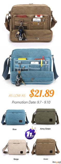 2c3590013 From US$21.89 + Free Shipping. Men's Bag, Multifunction Bag, Canvas Bag,