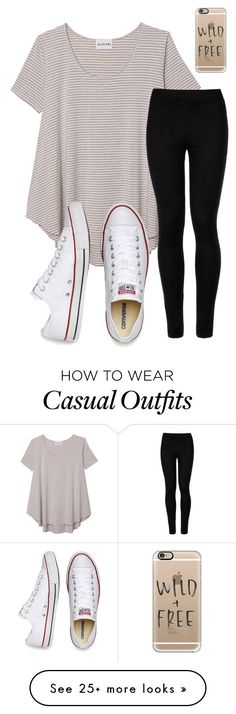 Casual by emi-elephant on Polyvore featuring Olive Oak, Wolford, Converse and Casetify