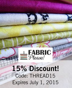 Get a 15% discount from @ritaferber with the code: THREAD15 until July 1, 2015! #sponsored