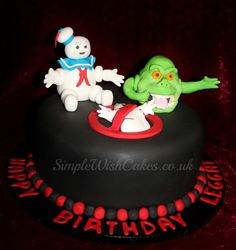 Ghostbusters Cake Cake by Stef and Carla (Simple Wish Cakes) Themed Wedding Cakes, Themed Cakes, Cupcakes, Cake Cookies, Beautiful Cakes, Amazing Cakes, Ghostbusters Cake, Birthday Parties, Birthday Cakes