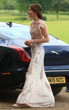 Duchess Kate: Kate Brings Back Favourite Jenny Packham Gown for A Taste of Norfolk at Houghton Hall