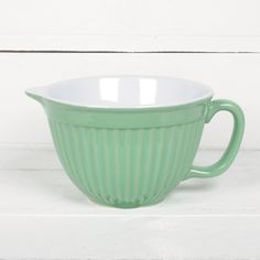 JUST BOUGHT THIS TODAY!! Ceramic Batter Mixing Bowl - Green -  24cm L x 18cm D x 12cm H - Ceramic Green Batter Bowl to compliment the greatest chef.
