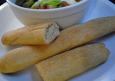 Sourdough breadsticks. Light and fluffy, even with half wheat flour!