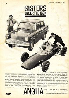 Ford Anglia Saloon - Advert No 31 Ford Motor Company, Classic Motors, Classic Cars, Detroit, Ford Anglia, Best Car Insurance, Old Race Cars, Car Posters, Car Advertising
