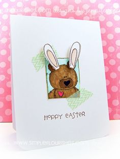 Easter card by Jennifer Holmes.  All stamps Purple Onion Designs.