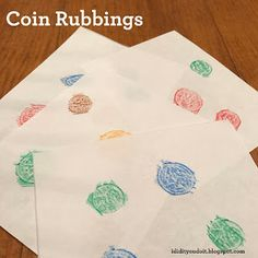 I Did It - You Do It: Coin Rubbings
