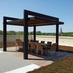 Pergola For Small Patio Diy Pergola, Backyard Canopy, Backyard Patio Designs, Canopy Outdoor, Outdoor Pergola, Pergola Designs, Pergola Kits, Modern Outdoor Structures, Modern Gazebo