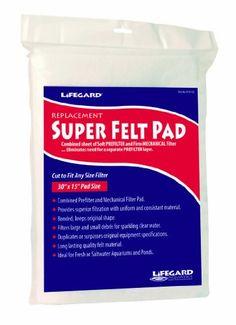 """$16.48-$16.48 Lifegard Aquatics Bonded Filter Media 30"""" X 15"""" Super Felt Display Pack - Provides superior filtration with uniform and consistant material. http://www.amazon.com/dp/B0058ULXVM/?tag=pin2pet-20"""