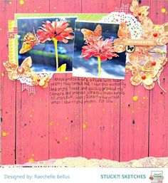 Stuck?! Sketches November 1 2016 challenge DT layout by Raechelle