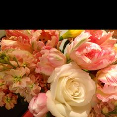 Love the textures and different shades of pink and white