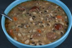 Smoky Black Eyed Pea soup made in the slow cooker. This is a must for New Year's Day!