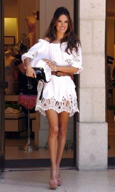 Not only am I obsessed with Alessandra but I'm also obsessed with this dress. Give me