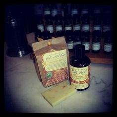 Abbey Brown body oil and soap