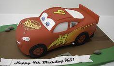 Final result - 3D Lightning McQueen Rusteze cake