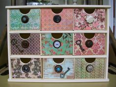 images of shabby chic offices | Shabby Chic Vintage Jewelry Box Organizer Office Trinkets Chest ...