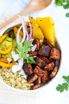 Hawaiian bbq tofu bowls recipe bbq tofu hawaiian bbq and crispy vegan hawaiian bbq tofu bowls packed with flavor and crispy tofu guest post recipe by emilie eats forumfinder Images