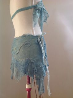 natural hemp wild spirit wrap skirt Elven Faerie by FractalWings