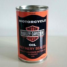 Harley Davidson oil replica can £4